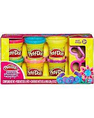 Play-Doh: 6 darabos csillámos gyurmaszett - 1. Kép
