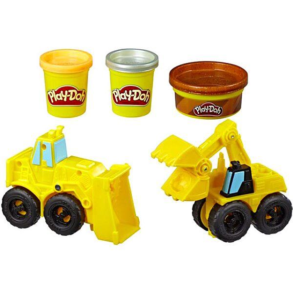 Play-Doh: Kerekek - Kotró és rakodó gépek gyurmaszett - 2. Kép
