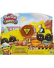 Play-Doh: Kerekek - Kotró és rakodó gépek gyurmaszett - 1. Kép