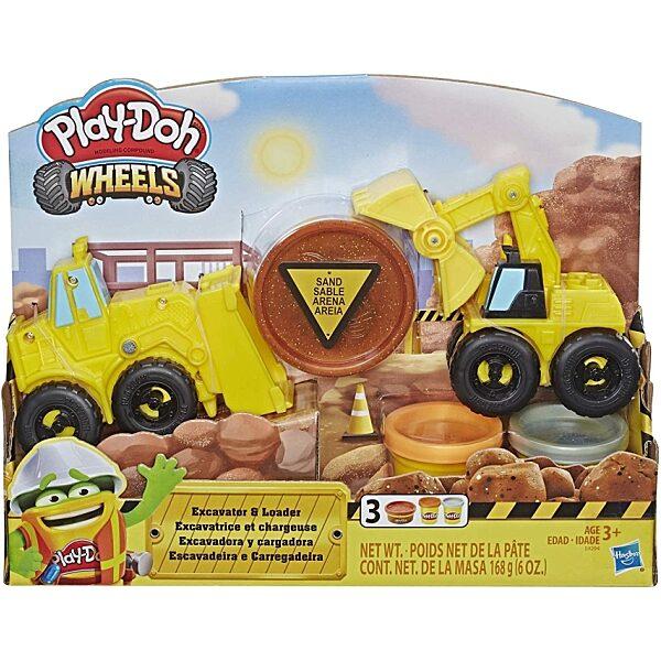 Play-Doh: Kerekek - Kotró és rakodó gépek gyurmaszett - 4. Kép