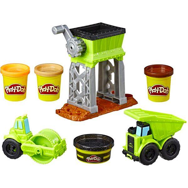 Play-Doh: Kerekek - Munkagépek gyurmaszett - 2. Kép