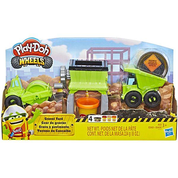 Play-Doh: Kerekek - Munkagépek gyurmaszett - 1. Kép