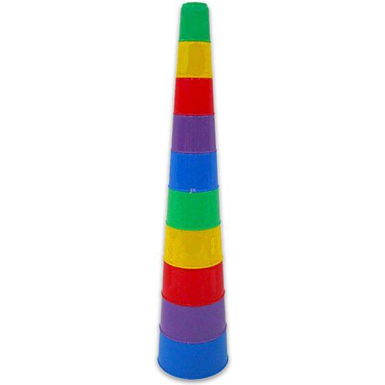 Poharas toronyépítő játék - 1. Kép