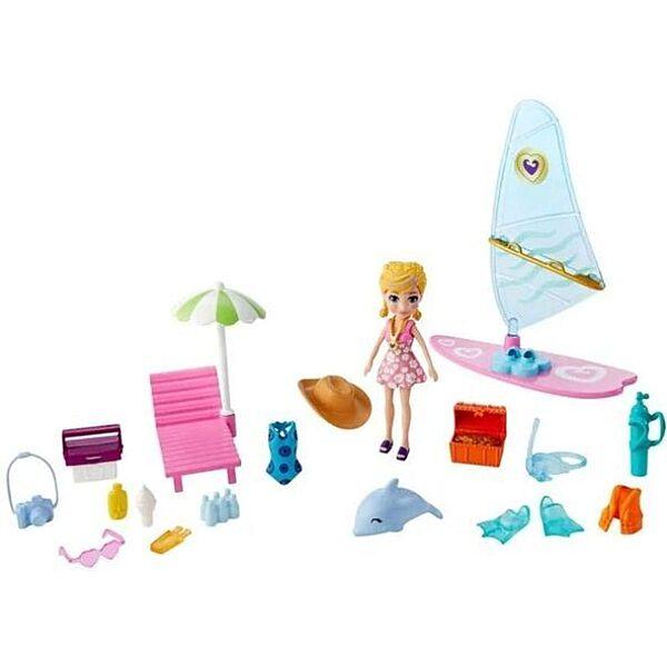 Polly Pocket: Polly szédületes szörfözés játékszett - 1. Kép