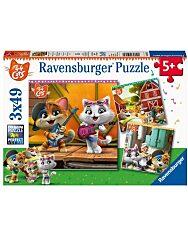 Ravensburger: 44 csacska macska 3x49 darabos puzzle - 1. Kép