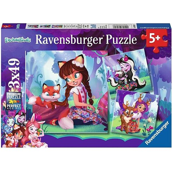 Ravensburger: Enchantimals 3 x 49 darabos puzzle - 1. Kép