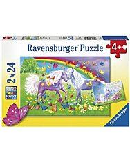 Ravensburger: Lovak és szivárvány 2 x 24 darabos puzzle - 1. Kép