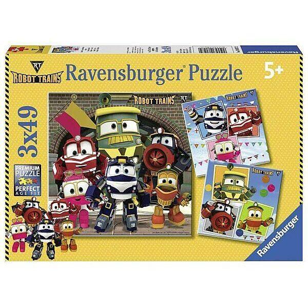 Ravensburger: RoboVonatok 3 x 49 darabos puzzle - 1. Kép