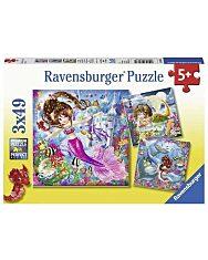 Ravensburger: Sellők 3 x 49 darabos puzzle - 1. Kép