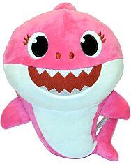 Rózsaszín baby shark anya cápa plüssjáték