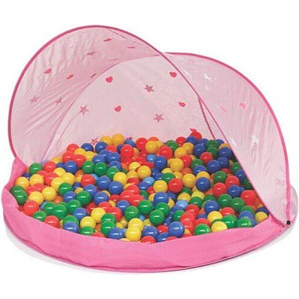 Rózsaszín strandsátor labdákkal - 1. Kép