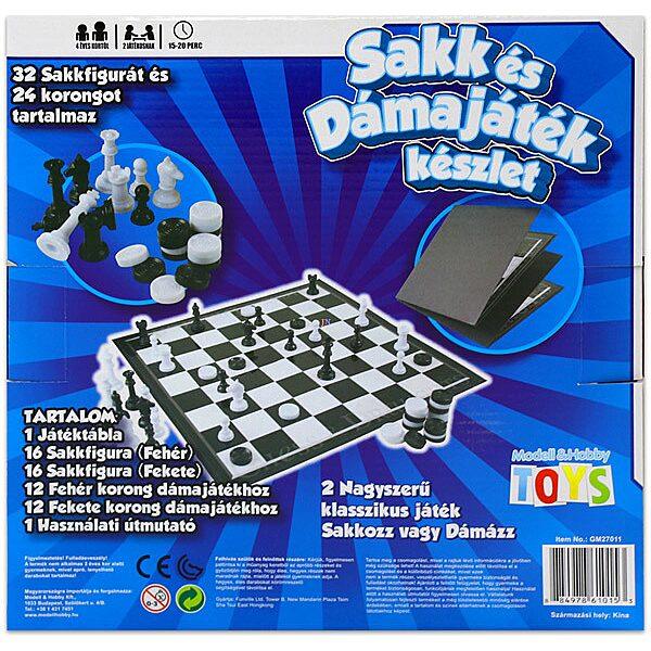Sakk és dámajáték készlet - 2. Kép