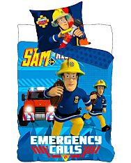 Sam a tűzoltó: Kétrészes ágyneműhuzat garnitúra - kék - 1. Kép