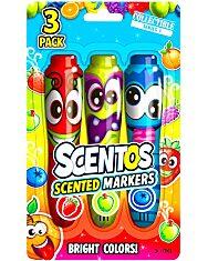 Scentos: 3 darabos illatos filctoll készlet - piros