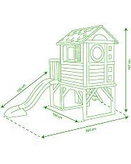 Smoby: csúszdás kerti házikó - 2. Kép
