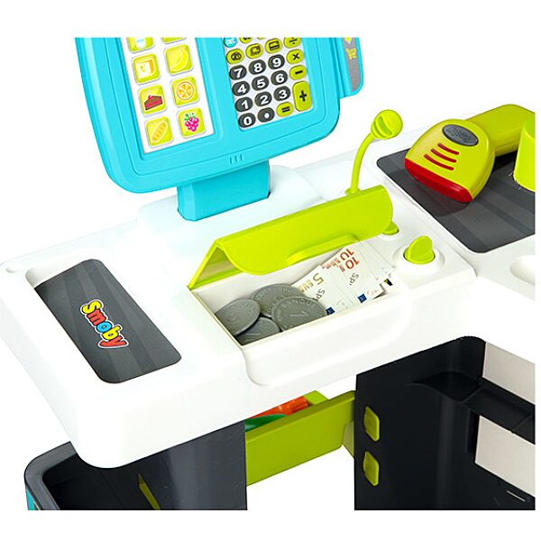Smoby: Modern szupermarket elektronikus pénztárgéppel - 2. Kép