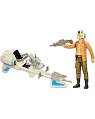 Star Wars Gyorsasági sikló Poe Dameron figurával - 1. Kép