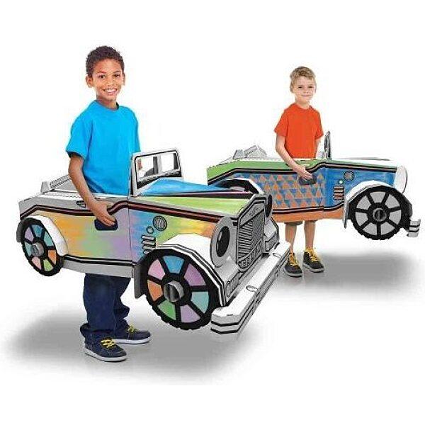 Színezhető karton autó - 2. Kép