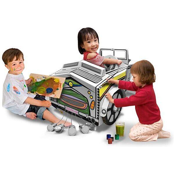 Színezhető karton autó - 3. Kép