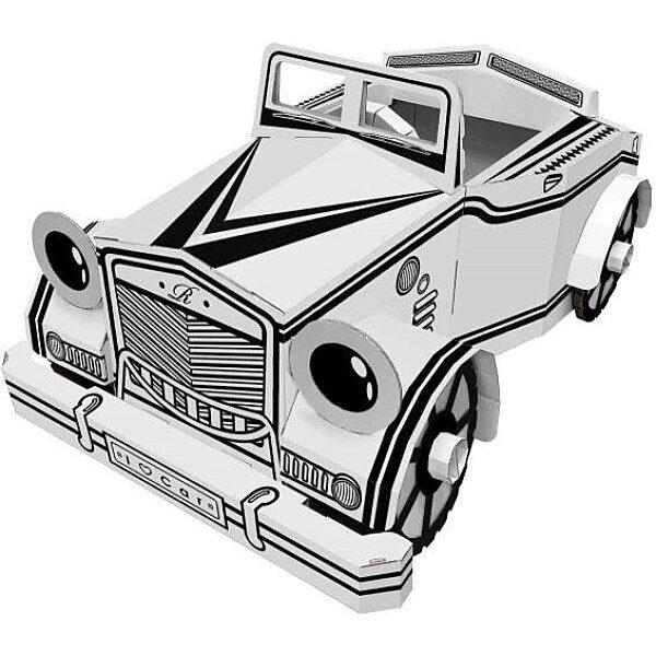 Színezhető karton autó - 1. Kép