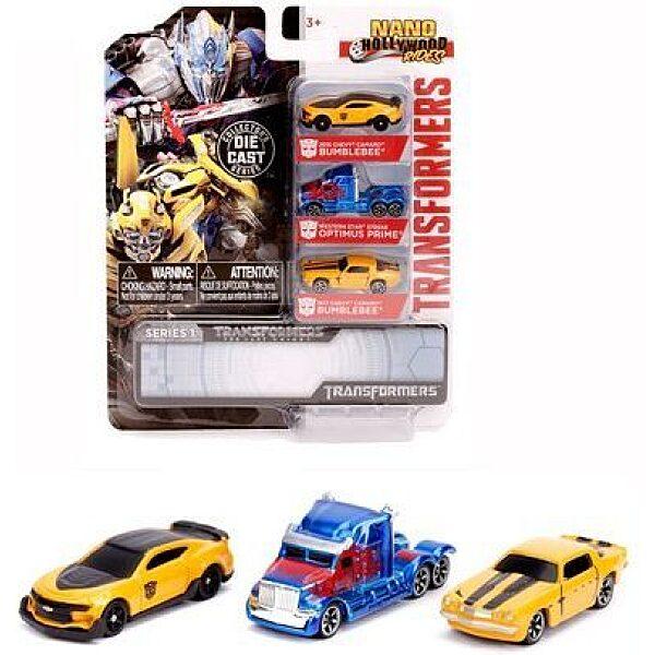 Transformers: Nano fémautó szett - 3 darab - 1. Kép