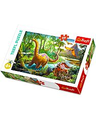 Trefl: dinoszauruszok 60 darabos puzzle - 1. Kép