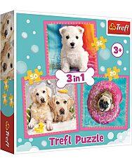Trefl: Kölyök kutyák 3 az 1-ben puzzle - 1. Kép