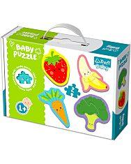 Trefl: zöldségek és gyümölcsök 4 x 2 darabos baba puzzle - 1. Kép