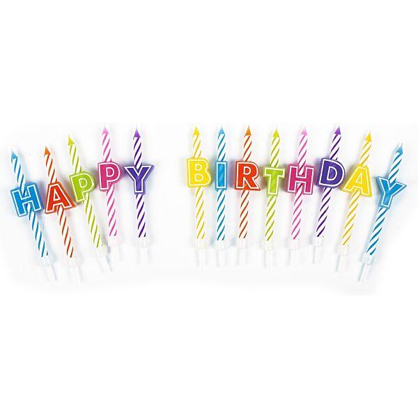 """""""HAPPY BIRTHDAY"""" 13 SZÁL SZÜLINAPI GYERTYA SZETT - 1. kép"""