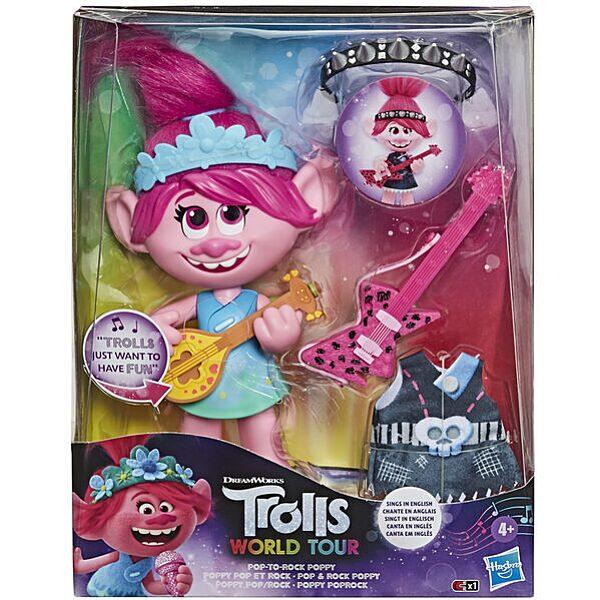 Trollok a világ körül: Pop to Rock éneklő Poppy baba - 1. Kép