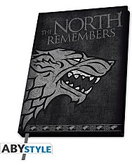 Trónok harca: Stark kemény fedeles jegyzetfüzet - A5 - 1. Kép