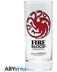 Trónok harca: Targaryen üveg pohár - 1. Kép