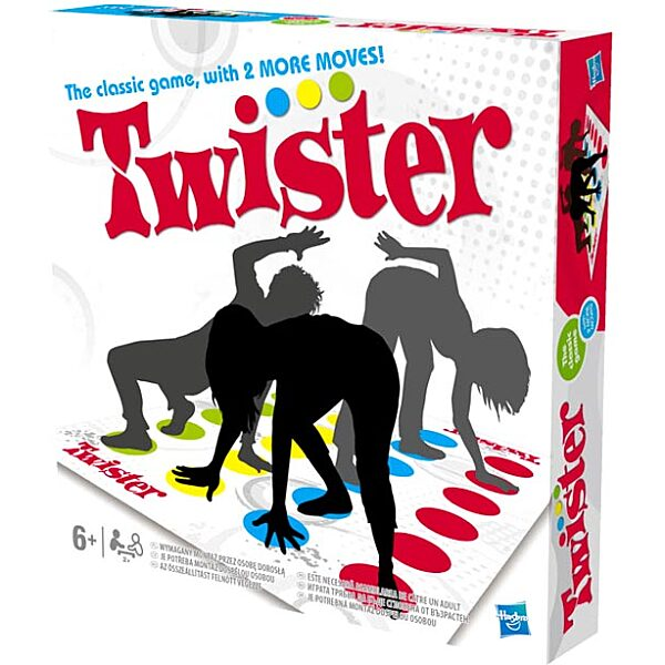 Twister társasjáték két új mozdulattal angol nyelvű - 4. Kép