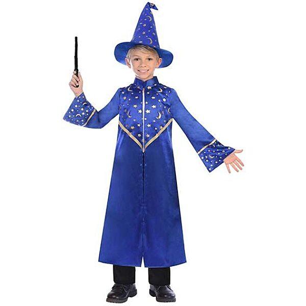 Varázsló jelmez kék színben 8-10 éves - 134 cm - 1. Kép