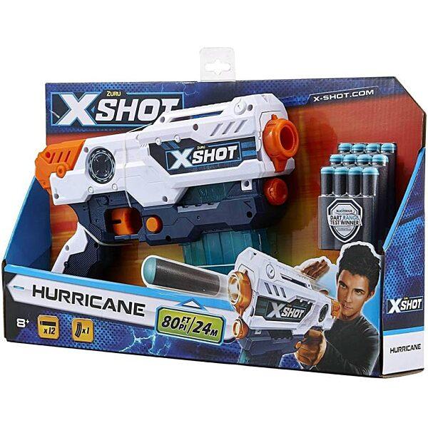 X-Shot Hurricane szivacslövő játékpisztoly - fehér - 1. Kép
