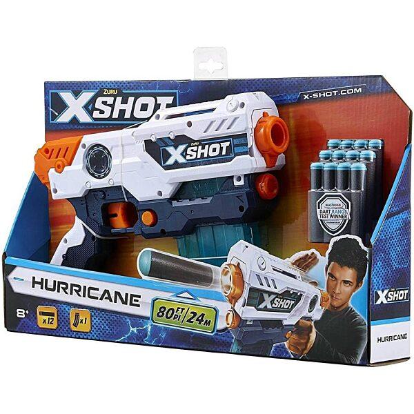 X-Shot Hurricane szivacslövő játékpisztoly - fehér - 2. Kép