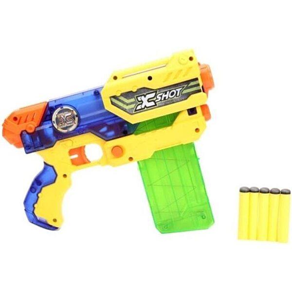 X-Shot Hurricane szivacslövő játékpisztoly - sárga - 3. Kép