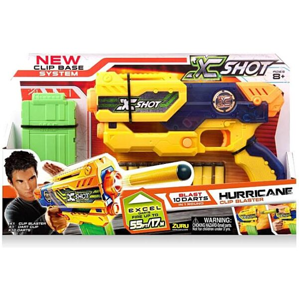 X-Shot Hurricane szivacslövő játékpisztoly - sárga - 1. Kép