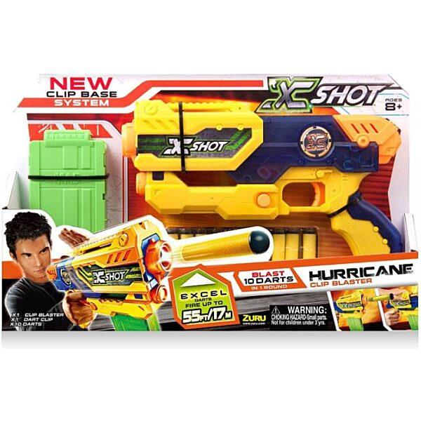 X-Shot Hurricane szivacslövő játékpisztoly - sárga - 2. Kép