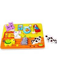 Állatos fa formaválogató puzzle - 1. Kép