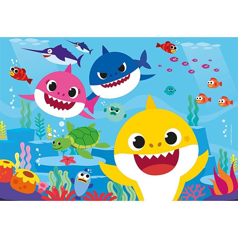 Baby Shark - 3 az 1-ben (3x48 db-os) Szuperszínes puzzle - 2. Kép