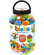 Bloko: tüskés építőjáték 200 darabos készlet műanyag flakonban - 1. Kép