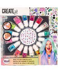 Canenco Create It! Körömlakk szett 16 színnel és köröm matricákkal - 1. Kép