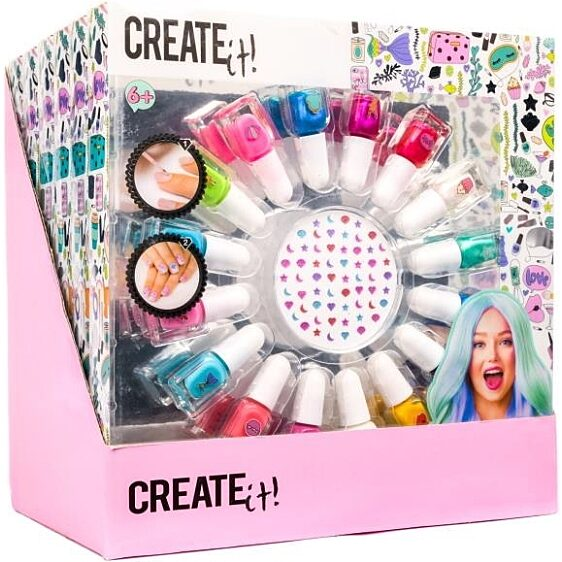 Canenco Create It! Körömlakk szett 16 színnel és köröm matricákkal - 3. Kép