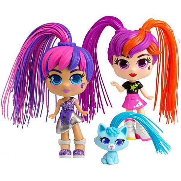 CurliGirls - Varázslokni babák: Varázslokni Babák - barátnők kisállattal játékszett - 2. Kép