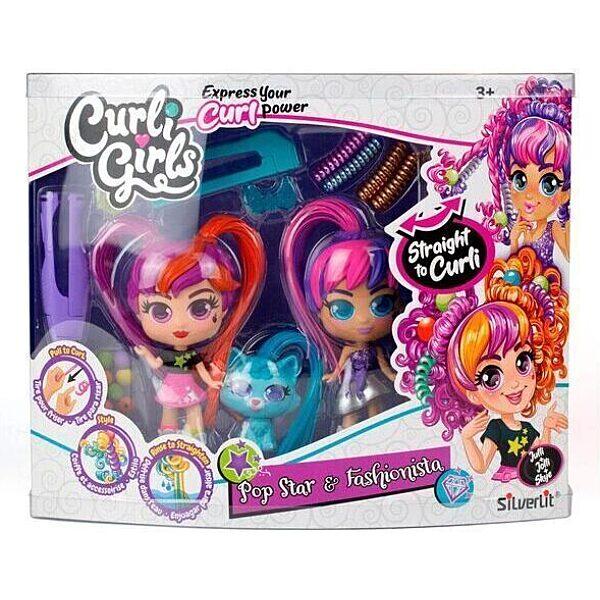 CurliGirls - Varázslokni babák: Varázslokni Babák - barátnők kisállattal játékszett - 1. Kép