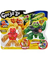Heros of Goo Jit Zu: Golden Blazagon vs Exclusive Rock Jaw játékfigura