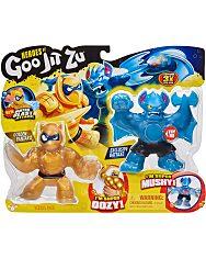 Heroes of Goo Jit Zu: Golden Pantaro vs Exclusive Battaxe játékfigurák