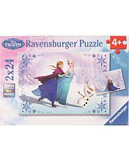 Jégvarázs Testvérek örökre 2 x 24 darabos puzzle - 1. Kép