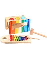 Kalapálós játék és xylofon szett kicsiknek - 1. Kép